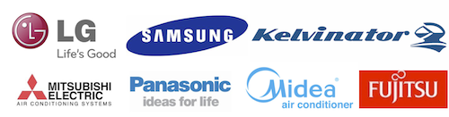 LG, samsung, kelvinator, mitsubishi, panasonic, midea, fulitsu air conditioner suppler in brisbane